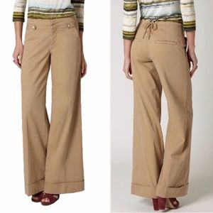 Cartonnier Wide-Leg Lace Up Chinos